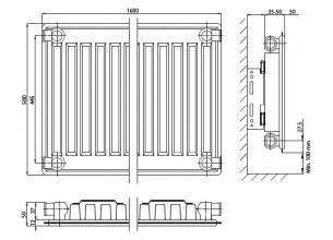 Стальные радиаторы ELSEN - 400*400, боковое, тип 11